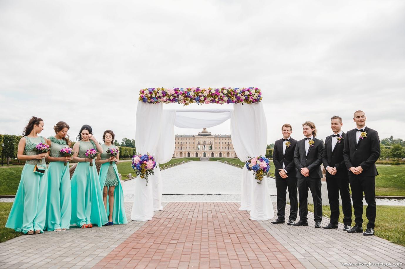 Цветовое оформление свадьбы фото