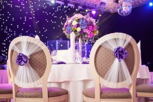 украшение зала на свадьбу-фото примера