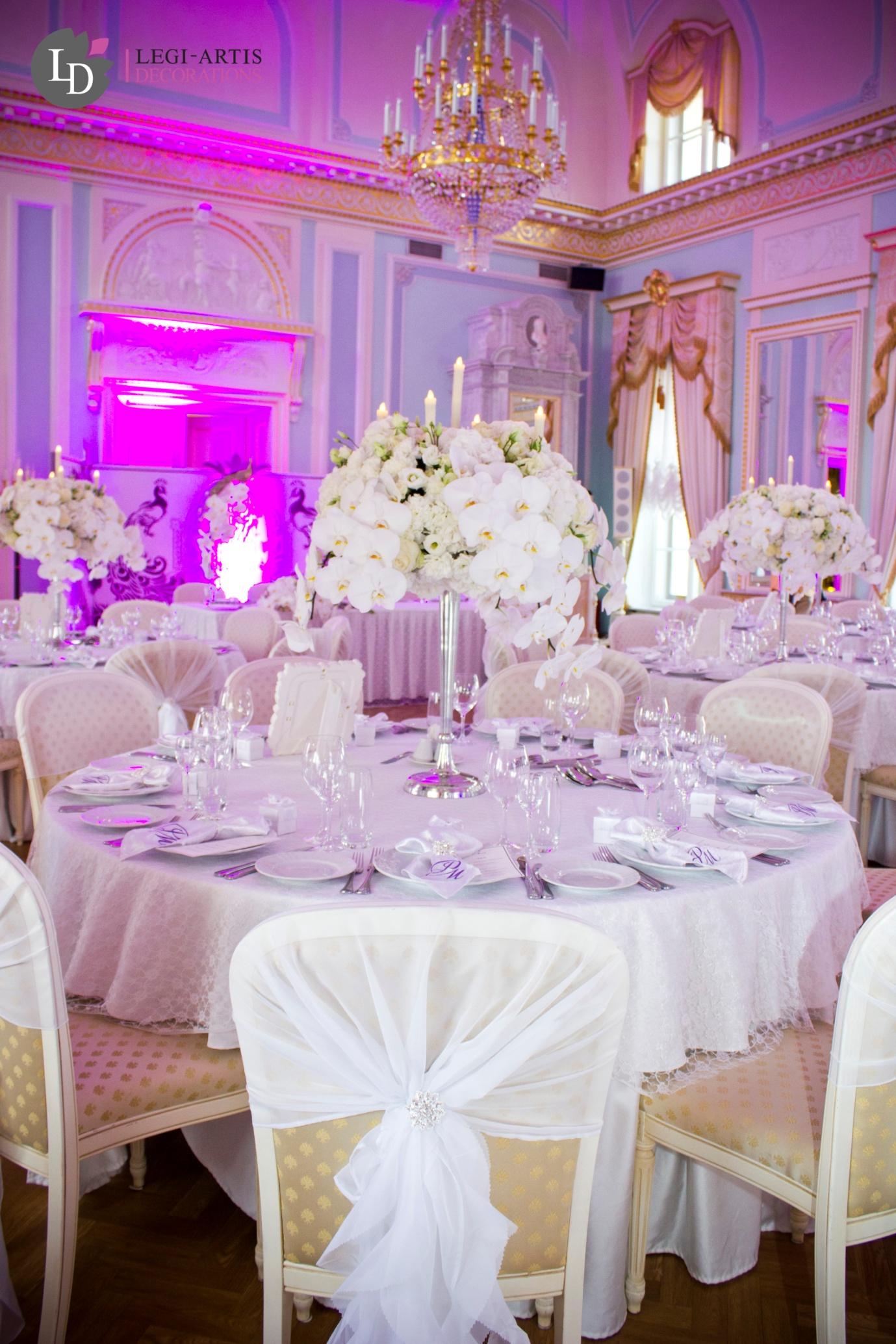 украшение стульев на свадьбу-фото примера